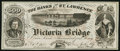 Canadian Currency: , Montreal, PQ- Banks of the St. Lawrence G(rand) T(runk) Railway AdNote 500 circa 1860s. ...