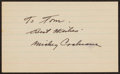 Autographs:Index Cards, Mickey Cochrane Signed Index Card.. ...