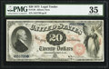 Large Size:Legal Tender Notes, Fr. 128 $20 1875 Legal Tender PMG Choice Very Fine 35.. ...