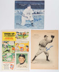 Autographs:Others, George Kell Signed Comic, Magazine Page, and Record.. ...