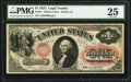 Large Size:Legal Tender Notes, Fr. 21 $1 1875 Legal Tender PMG Very Fine 25.. ...
