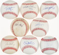 Autographs:Baseballs, 2000s Stars Single Signed Baseball Lot of 8.. ...