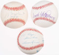 Autographs:Baseballs, 1960s MVPs Single Signed Baseball Lot of 3 - Killebrew, Robinson,and Wills.. ...