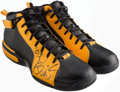 Autographs:Others, 2006 Kevin Love Game Worn & Signed 2006 ABCD Basketball Camp,Sean Carter BBall III Shoes.. ...