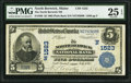 National Bank Notes:Maine, North Berwick, ME - $5 1902 Plain Back Fr. 599 The North Berwick NBCh. # (N)1523. ...