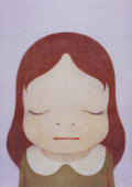 Prints & Multiples, Yoshitomo Nara (Japanese, b. 1959). Cosmic Girl (Eyes Open, Eyes Shut) (two works), 2008. Offset lithographs in colors o... (Total: 2 Items)