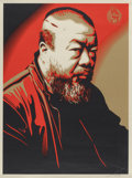 Prints & Multiples, Shepard Fairey (American, b. 1970). Portrait of Ai Weiwei, 2014. Screenprint in colors on wove paper. 24 x 18 inches (61...