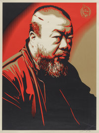 Shepard Fairey (American, b. 1970) Portrait of Ai Weiwei, 2014 Screenprint in colors on wove paper