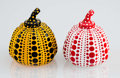 Asian:Japanese, Yayoi Kusama (Japanese, b. 1929). Red and Yellow Pumpkin(two works). Painted cast resin. 4 x 3-1/4 x 3-1/4 inches (10.2...(Total: 2 Items)