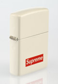 Other, Supreme X Zippo. Lighter (White), 2012. White matt zippo lighter. 2-1/4 x 1-1/2 inches (5.7 x 3.8 cm). Published by Supr...