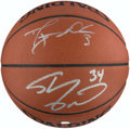 Autographs:Others, Shaquille O'Neal and Dwyane Wade Signed Basketball.. ...