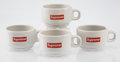 General Americana, Supreme . Espresso Cups (set of four), 2014. Whitewareceramic cups with glazing. 1-3/4 x 3-1/4 inch...