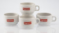 General Americana, Supreme . Espresso Cups (set of four), 2014. Whitewarceramic cups with glazing. 1-3/4 x 3-1/4 inches (4.4 x 8.3 cm)(ea... (Total: 4 Items)