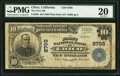 National Bank Notes:California, Chico, CA - $10 1902 Plain Back Fr. 626 The First NB Ch. # 8798. ...