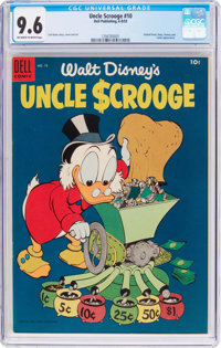 Uncle Scrooge #10 (Dell, 1955) CGC NM+ 9.6 Off-white to white pages