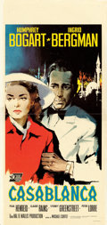 "Movie Posters:Academy Award Winners, Casablanca (United Artists, R-1962). Italian Locandina (13.25"" X27.5"") Nano Artwork.. ..."