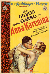 """Love (MGM, 1928). Argentinean One Sheet (29"""" X 43"""") A. Wagener Artwork"""