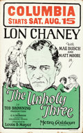 """Movie Posters:Crime, The Unholy Three (MGM, 1925). Window Card (14"""" X 22"""").. ..."""
