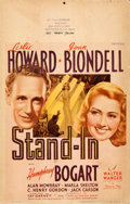 """Movie Posters:Comedy, Stand-In (United Artists, 1937). Window Card (14"""" X 22"""").. ..."""
