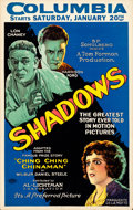 """Movie Posters:Drama, Shadows (Preferred Pictures, 1922). Window Card (14"""" X 22"""").. ..."""