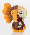 Fine Art - Sculpture, American:Contemporary (1950 to present), KAWS X BAPE. Dissected Milo (Brown), 2011. Painted castvinyl. 7-1/2 x 6-1/2 x 5 inches (19.1 x 16.5 x 12.7 cm). Edition...