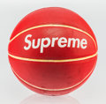 Other, Supreme X Spalding. Basketball, 2007. Rubber. 10 inch (25.4 cm) diameter. Published by Spalding, Bowling Green, KY...