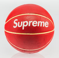 Supreme X Spalding Basketball, 2007 Rubber 10 inch (25.4 cm) diameter Published by Spalding, B