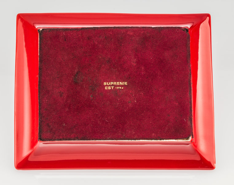 Supreme   Hermes Ashtray (Red And White), C  2012  Ceramic Ashtray