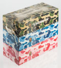 General Americana, BAPE . ABC Camo 3 pack box of tissues, c. 2011. Offsetprints on cardboard boxes with facial tissues. 2-5/8 x 9-5/8 x4-... (Total: 3 Items)