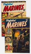 Golden Age (1938-1955):War, Fightin' Marines #6 and 10 Group (St. John, 1954-55).... (Total: 2 Comic Books)