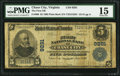 National Bank Notes:Virginia, Chase City, VA - $5 1902 Plain Back Fr. 600 The First NB Ch. #9291. ...