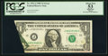 Error Notes:Foldovers, Pre-Face Print Foldover Error Fr. 1911-J $1 1981 Federal ReserveNote. PCGS Apparent About New 53.. ...