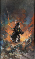 Original Comic Art:Paintings, Frank Frazetta Death Dealer 6 Painting Original Art(1990)....