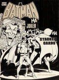 Original Comic Art:Covers, Neal Adams and Dick Giordano Batman: Stacked Cards [Book and Record Set] PR-27 Cover Original Art (Power Records, ...