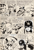Original Comic Art:Panel Pages, Carl Burgos and George Roussos Tales to Astonish #62 StoryPage 7 Original Art (Marvel, 1964)....