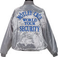 Music Memorabilia:Memorabilia, Mötley Crüe Security Staff Tour Jacket, Circa 1987....
