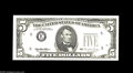 Error Notes:Partial Third Printing, Fr. 1984-E $5 1995 Federal Reserve Note. Gem Crisp Uncirculated. The green ink of the third printing is visible only on the ...