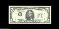 Error Notes:Partial Third Printing, Fr. 1984-E $5 1995 Federal Reserve Note. Gem Crisp Uncirculated. The green Treasury Seal and serial numbers are missing from...