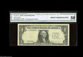 Error Notes:Third Printing on Reverse, Fr. 1921-B $1 1995 Federal Reserve Note. Choice About Uncirculated. A trace of handling is found on this New York note that...