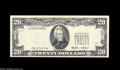 Error Notes:Third Printing on Reverse, Fr. 2075-L* $20 1985 Federal Reserve Note. Choice Crisp Uncirculated. Though third printing on reverse errors are relatively...