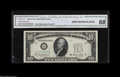 Error Notes:Obstruction Errors, Fr. 2011-C $10 1950A Federal Reserve Note. CGA Gem Uncirculated 68.A broadly margined obstruction error with the green tre...