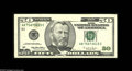 Error Notes:Obstruction Errors, Fr. 2126-B $50 1996 Federal Reserve Note. Very Fine. Above Grant'sportrait is an obstruction error that is approximately on...
