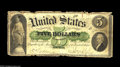 Large Size:Demand Notes, Fr. 1 $5 1861 Serial Number 1 Series 7 Demand Note Very Good. Whatbetter way to kick-off your paper money collection than a...