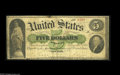 Large Size:Demand Notes, Fr. 1 $5 1861 Demand Note Very Good. Other than a few minorproblems such as a pinhole, a small repair to the top edge and a...