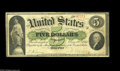 Large Size:Demand Notes, Fr. 3 $5 1861 Demand Note Choice Fine. A solid example, with goodmargins, strong color, decent signatures and no problems o...