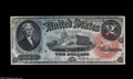 Large Size:Legal Tender Notes, Fr. 42 $2 1869 Legal Tender Gem New. This beauty was purchased byour consignor from the 1985 sale of the Andrew Shiva Colle...