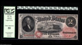 Large Size:Legal Tender Notes, Fr. 43 $2 1874 Legal Tender PCGS Choice About New 55. Two corner folds are seen through the third-party holder, as this note...