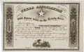Miscellaneous, Texas Association Unengrossed Certificate for the Mercer Colony....