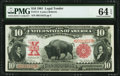 Large Size:Legal Tender Notes, Fr. 114 $10 1901 Legal Tender PMG Choice Uncirculated 64 E...