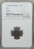 Dominica, Dominica: British Colony 1-1/2 Bits ND (1798) VF35 NGC,...